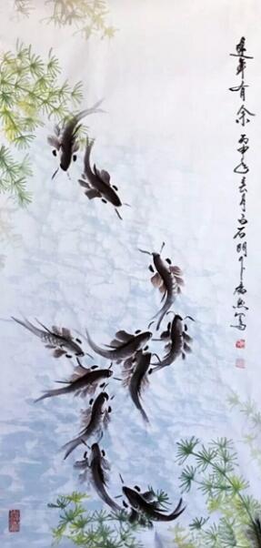 """会意水墨画创始人王广然成就""""国际范儿"""""""