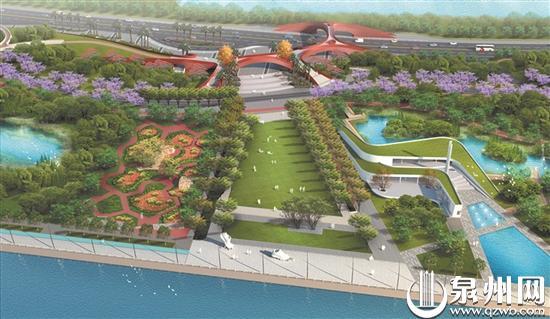 """北滨江公园""""五区十园""""最后一园浦西园预期国庆节前基本建成图片"""