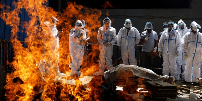 PHOTOS: India's Crematoriums Have Started to Melt, so Many Bodies