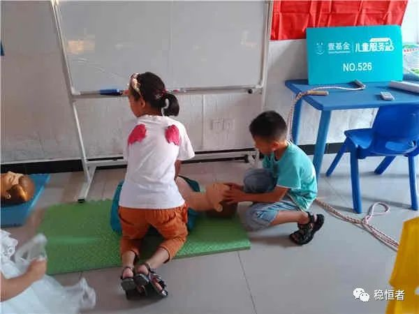 让希望飞扬 七月的蚌埠市稳恒者钓鱼台街道儿童服务站