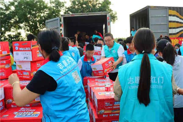 一方有难,八方支援,大兴志愿者驰援河南灾区志愿服务举行